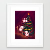 Chubby Bunnies Decorate … Framed Art Print