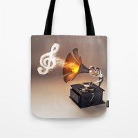 let the music play (just keep the groove) Tote Bag