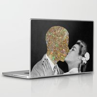 kiss Laptop & iPad Skins featuring Gold Digging by Eugenia Loli