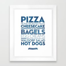 New York — Delicious City Prints Framed Art Print