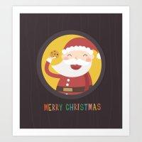 Day 24/25 Advent - Santa's Cookie Art Print