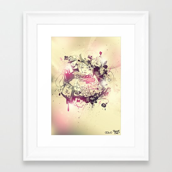 Stoned Framed Art Print