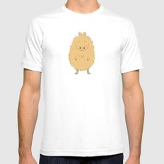 Thinking Capybara Mens Fitted Tee White SMALL