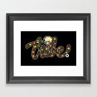 TRIBAL CHRONIC Framed Art Print