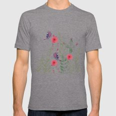 Watercolor floral garden  Mens Fitted Tee Tri-Grey SMALL