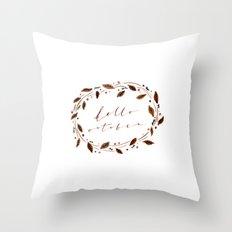 Hello October! Throw Pillow
