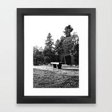 Cemetery solitude Framed Art Print