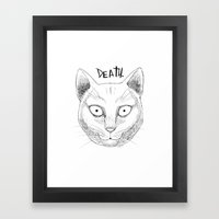DEATH. (White) Framed Art Print
