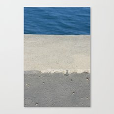 Abstract - Cement and Lake Canvas Print