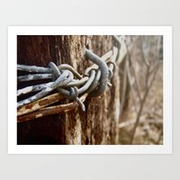 Tangled Barbed Wire Art Print