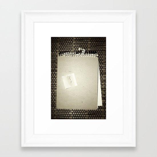 Forgive me Framed Art Print