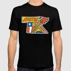 Austin TX SMALL Black Mens Fitted Tee