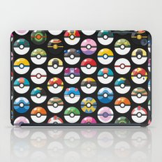 Pokemon,Pokeball Black iPad Case