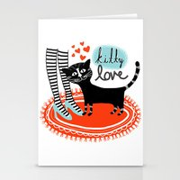 Kitty Love Stationery Cards