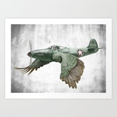 In which it's a bird. It's a plane. (Now in technicolour) Art Print