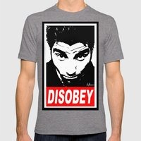 Disobey Chino Mens Fitted Tee Tri-Grey SMALL