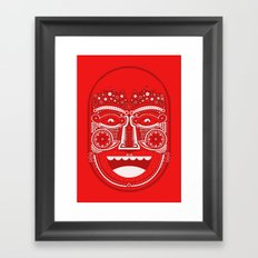 Red Is Mad Framed Art Print