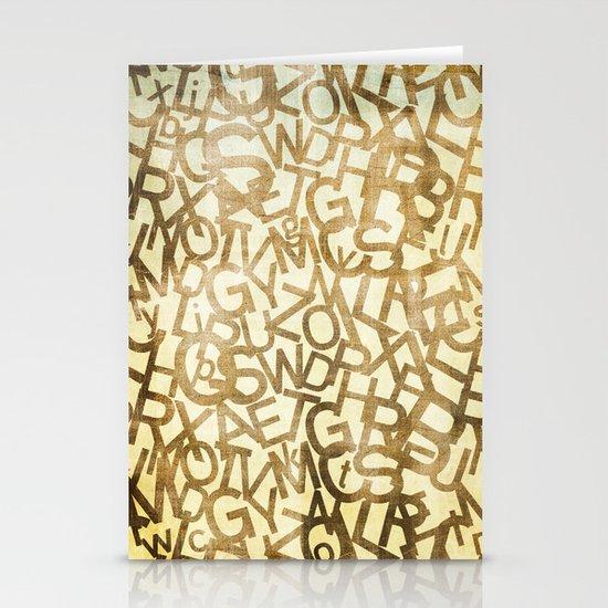 Din pattern Stationery Card