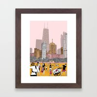 Goodbye Summer Framed Art Print
