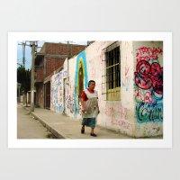 Woman In Guadalajara Art Print