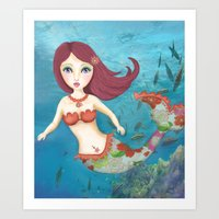 Somewhere Under the Sea Art Print
