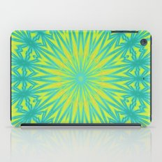 Aqua Blue and Yellow iPad Case