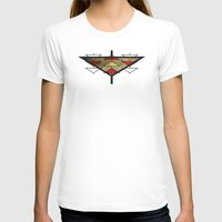 Navajo Arrows Womens Fitted Tee White SMALL