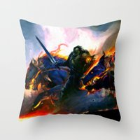 Hellhounds - Painting Style Throw Pillow