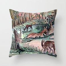 A Dear Deer, Oh Dear! Throw Pillow
