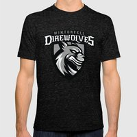 Direwolves Mens Fitted Tee Tri-Black SMALL