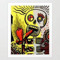 Endorphin Rush / Shake'n the Skull! Art Print