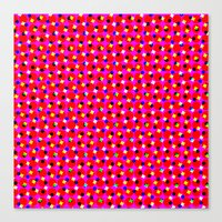 Canvas Print featuring PINK DOT & STAR  by Mr.DOT
