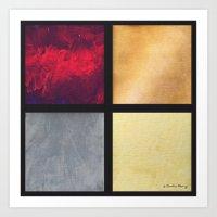 Four Squares 001 Art Print
