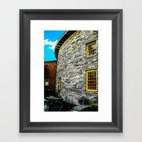 Round barn exterior Framed Art Print