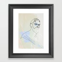 One Line GOT: Khal Drogo Framed Art Print