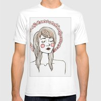 Flower Chain Mens Fitted Tee White SMALL
