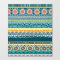 Blue Streaks Canvas Print