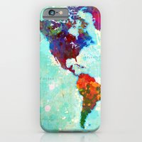 iPhone Cases featuring Abstract Map of the World by Gary Grayson