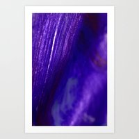 Sparkly Blue Art Print