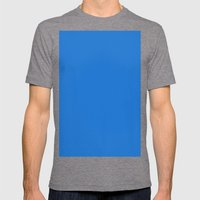 Bright navy blue Mens Fitted Tee Tri-Grey SMALL