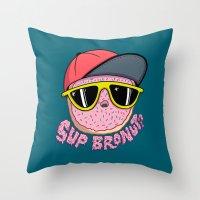 Bronut Throw Pillow