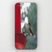 Hummingbird w/ bokeh iPhone & iPod Skin