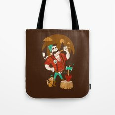 Green Thumberjack Tote Bag