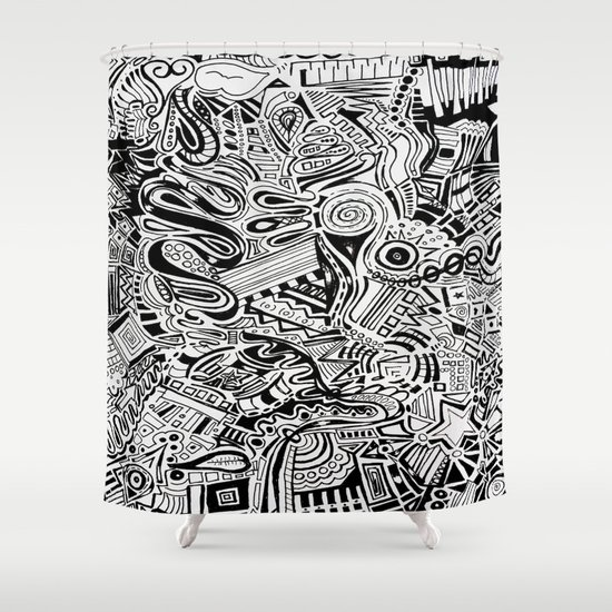 Inky \\ Shower Curtain