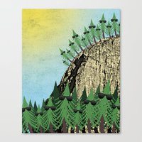 Sunning Trees Print Canvas Print