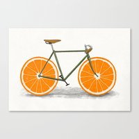 Zest (Orange Wheels) Canvas Print