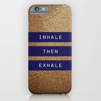 iPhone & iPod Case featuring inhale then exhale. by lissalaine