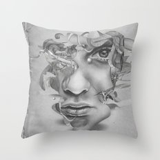 Real vs Surreal Throw Pillow