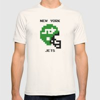 Old School New York Jets Mens Fitted Tee Natural SMALL