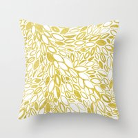 Golden Doodle petals Throw Pillow